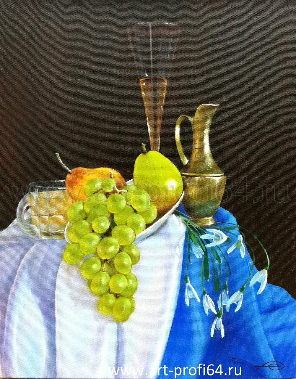 Виноград вино и цветы 72