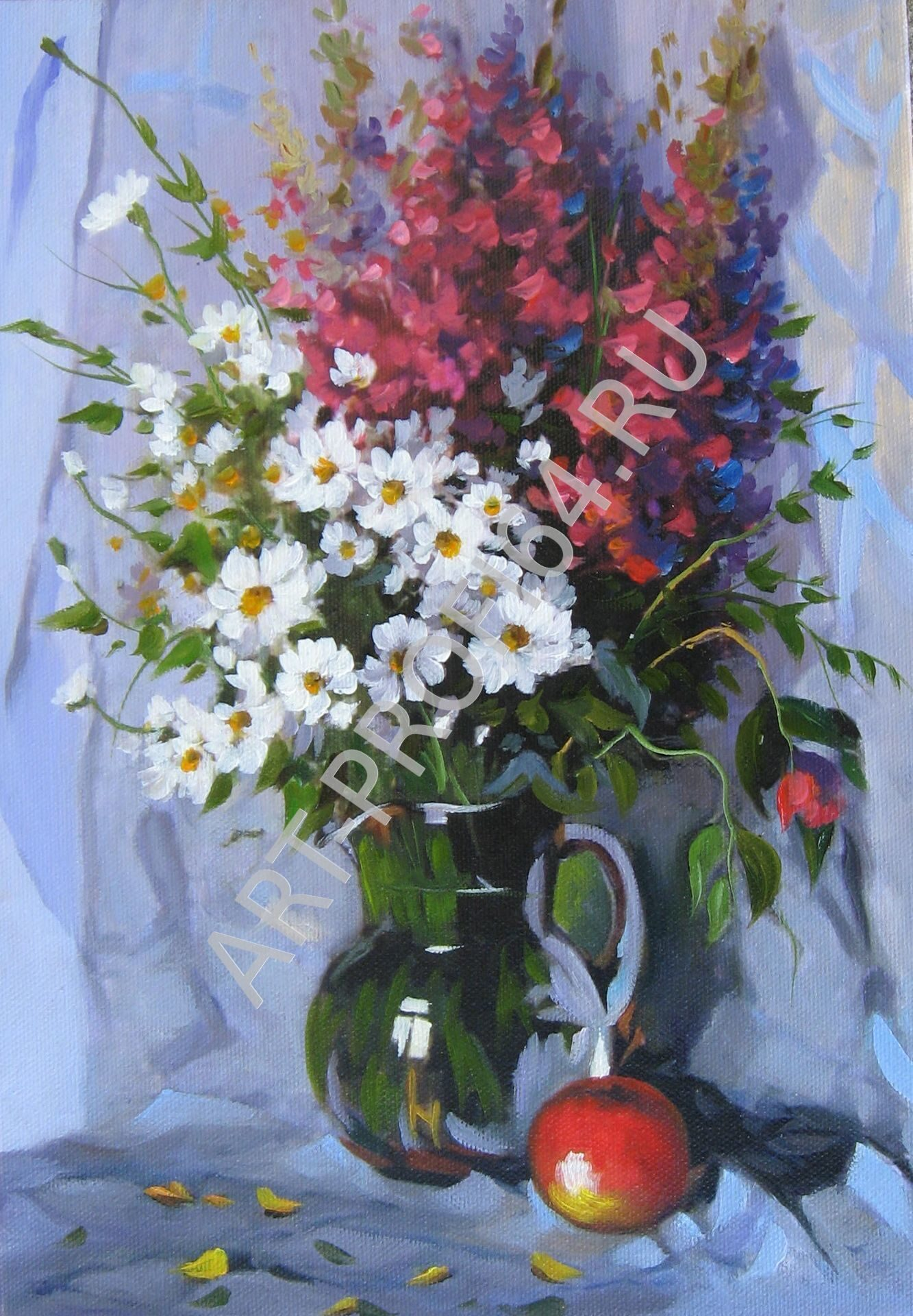 Картины натюрморты с цветами и фруктами известных художников